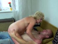 Blonde GILF fucked