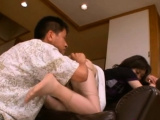 Curvy japanese honey goes down on knob and rides vigorously