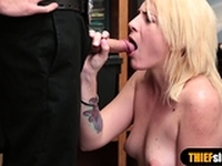 Stunning blondie suspect fucked her way out of trouble