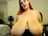 Redhead BBW with Big Boobs Blowjob Tittyjob Facial