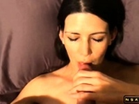 Sexy milf cummed in her pretty mouth