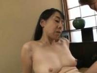 Japanese mature MILF gives blowjob