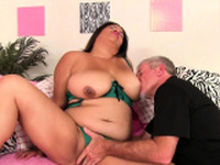 Old Man Pummels Fat Latina Lady Spice
