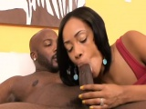 Ebony chick Brooke Taylor takes cock in doggy