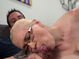 Gran in glasses creampied