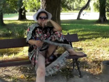Hairy Mature in transparent dress (part 3)