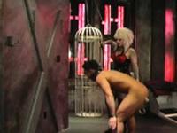 Slutty hottie gets her valuable titties totally mistreated