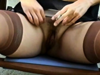 Sexy attractive girlfriend is riding her vibrator