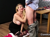 Randy looker gets cum load on her face sucking all th07xqg