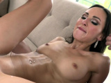 Stunning anal loving chick covered in cum