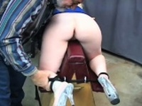 Rough spanking and harsh thraldom on womans love tunnel