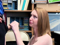 Redhead Katy gets fucked in the office