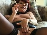 Sensual babe spreads her legs and masturbates