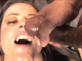 Lusty Cecilia Vega wrecked by black guys massive cock