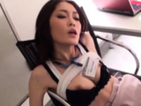 Lustful oriental woman gets stuffed with a rod in the office