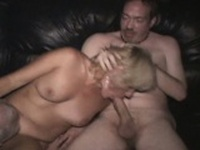 Wild Anal Blonde Group Fucked in Theater