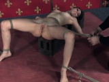 Tied sub Zoey Laine tickled by maledom