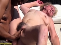 hairy old granny first time interracial