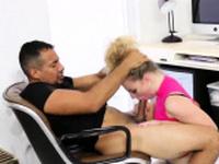 Amateur spank facial and blonde rough anal bondage