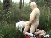 Older couple outside sex wear twee Vernetta from dates25com