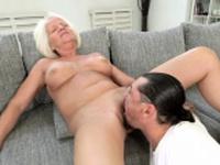 Blonde granny screwed