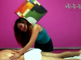 Excellent massage by cute playgirl