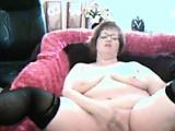 Horny Grandmother Masturbates