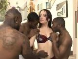 Perky tits slut Marley Blaze Dped by huge black cocks