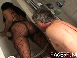 Stupendous girl poon tang plowing session