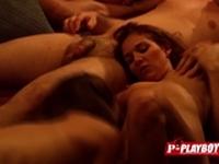 Naughty swingers love to suck huge cocks