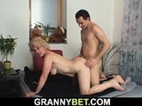 Lonely 60 years old blonde gets fucked by stranger