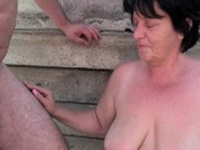 BBW granny makes the best of grandpas small penis
