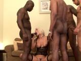 Big black dicks for horny blonde
