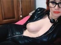 Hot Redhead Leather Webcam