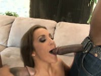 Petite MILF deepthroated by a strangers with huge cocks