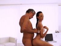 Hot young blonde fucks old guy Finally shes got her