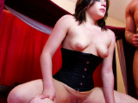 Lusty babe moans in pleasure while fucking
