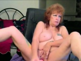 Blonde granny with big tits homemade action