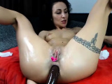 Nymphs inside latex toys close to her sexy body shape