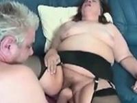 Big And Horny Grandma Wearing Stockings