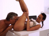 Crazy old mom hard fuck Finally shes got her manager dick