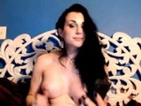 Blue Eyes Babe Webcam Strip and Masturbate HD