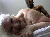 Grandmother banged by huge black shlong