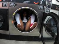 Thick black sucks strangers dick at laundromat