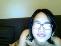 Hairy asian girlfriend toying