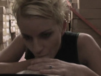 Awesome blonde first timer Christen enjoys that yummy tool