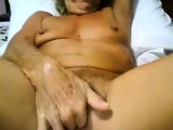 Granny cums on cam