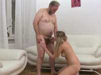 Shameless russian kitty in oral sex action