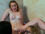 Naughty college teen likes to feel shlong in mouth and pussy