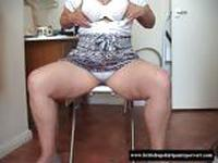 British amatuer granny turned into a panty whore for cash